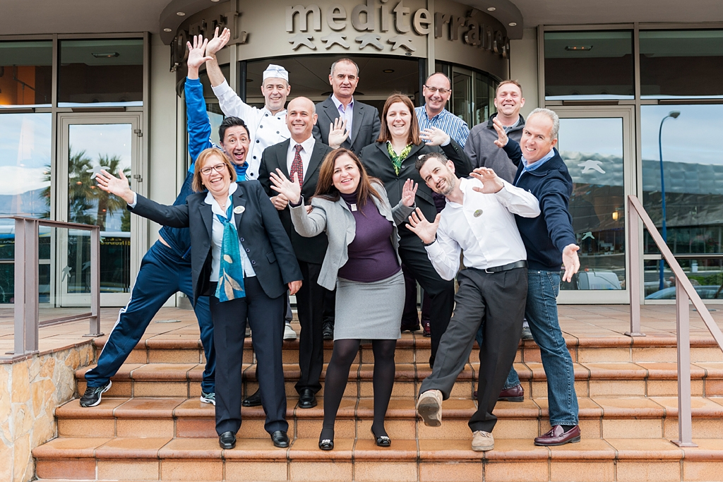 Mediterranean Hotel's whole staff team