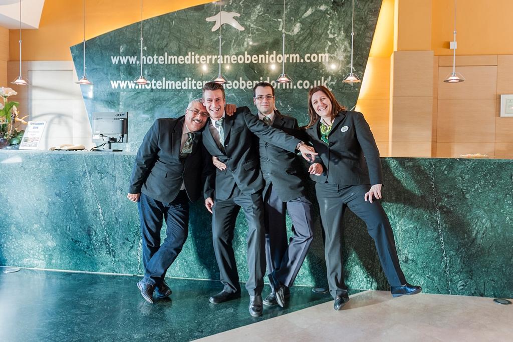 The Reception team- Hotel Mediterraneo Benidorm
